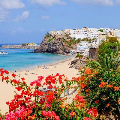 Beach in Morro Jable, Fuerteventura.